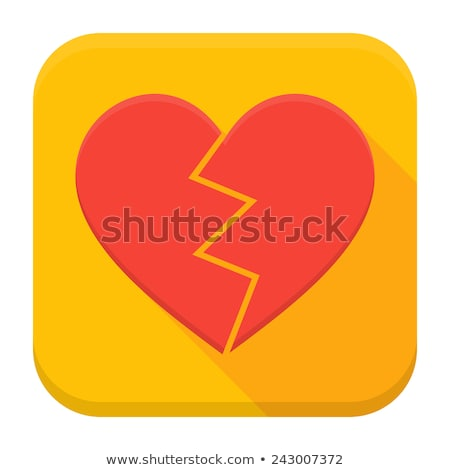 Broken heart app icon with long shadow Stock photo © Anna_leni
