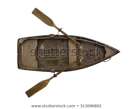 small wooden canoe paddle Stock photo © PixelsAway