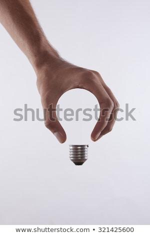 Creative ampoule mains résumé design signe Photo stock © vgarts