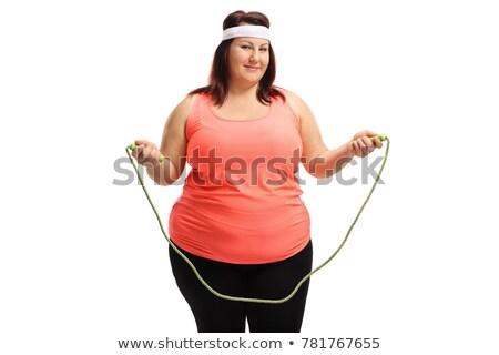 Grasso donna corda illustrazione vettore formato Foto d'archivio © orensila