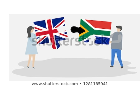 South Africa and United Kingdom Flags in puzzle Stock photo © Istanbul2009