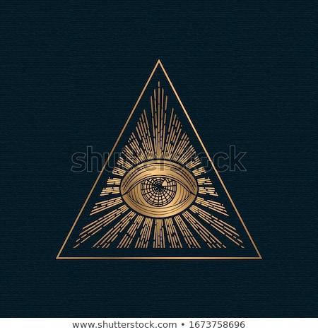 Сток-фото: глаза · черный · стороны · свет · золото