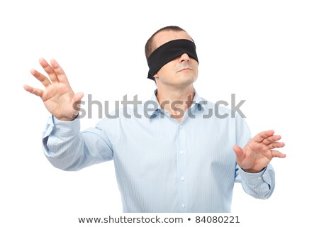 Blindfolded businessman with arms out Stock photo © wavebreak_media