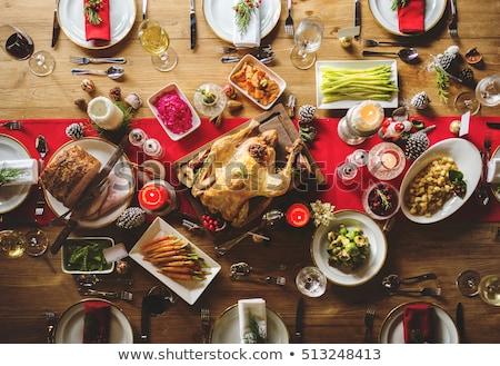 Weihnachten Tisch Essen home Wohnzimmer Haus Stock foto © wavebreak_media
