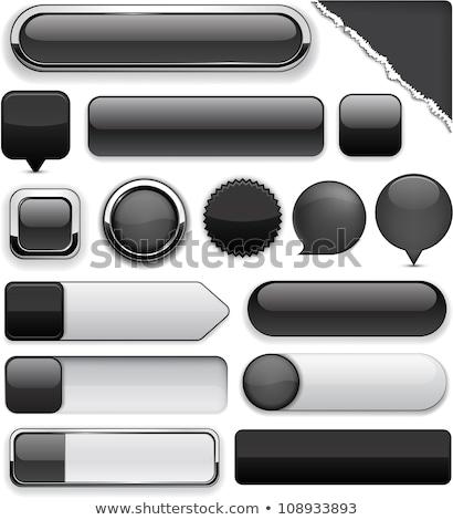 Web Internet Square Vector Black Button Icon Design Set Stock photo © rizwanali3d