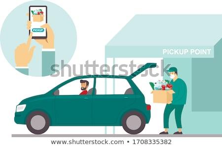Business man pick up Stock photo © fuzzbones0