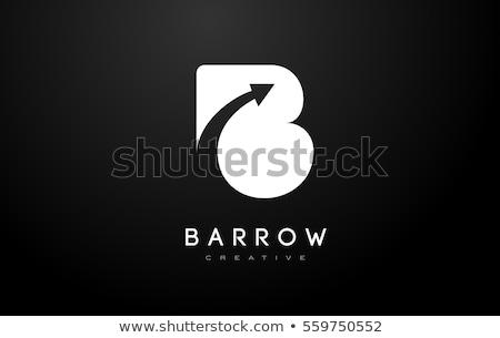 ストックフォト: 抽象的な · ベクトル · ロゴ · 手紙 · グラフィック · 黒