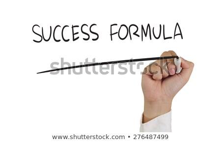 бизнесмен формула успех химического школы науки Сток-фото © alphaspirit