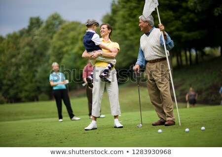 family plays golf Stock photo © adrenalina