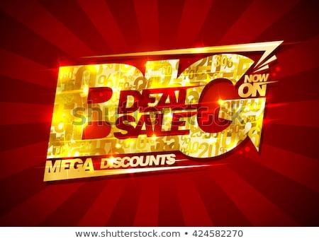 Exclusief deal gouden vector icon ontwerp Stockfoto © rizwanali3d