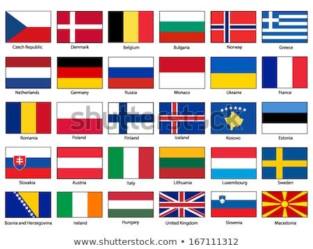 Alemanha Kosovo bandeiras quebra-cabeça isolado branco Foto stock © Istanbul2009