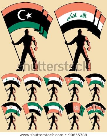 Egyesült Arab Emírségek western Szahara zászlók puzzle izolált Stock fotó © Istanbul2009