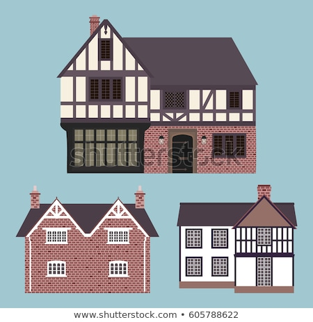 Haus Zeile Häuser england Tür Ziegel Stock foto © ndjohnston