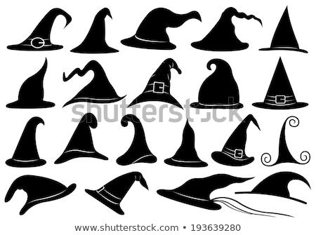 Cadı toplama beyaz turuncu tebeşir Stok fotoğraf © Sonya_illustrations