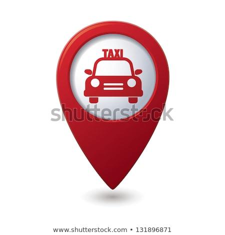 Térkép taxi ikon férfi munka felirat Stock fotó © kiddaikiddee