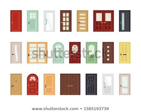 Stock fotó: Ajtók · iroda · terv · otthon · ablak · felirat