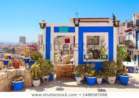 Stockfoto: Strand · hemel · gebouw · stad · zon · landschap