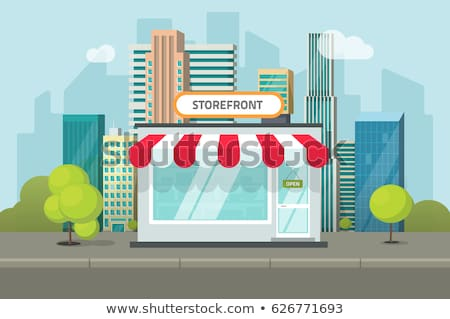 Facade exterior shop flat design with sign Stock photo © LoopAll