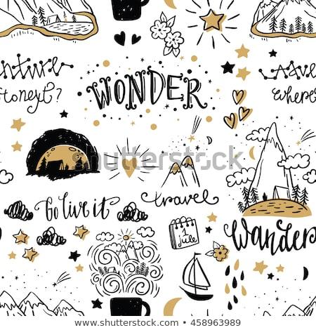 doodle pattern adventure stock photo © netkov1