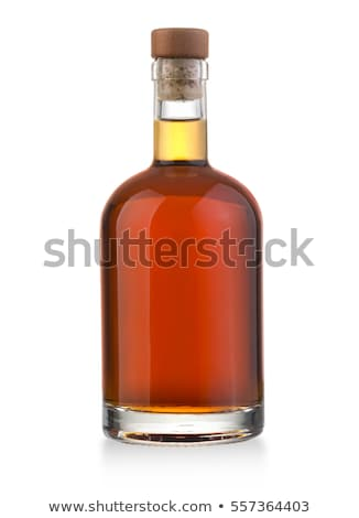 A brown liquor bottle on a white background Stock photo © Zerbor