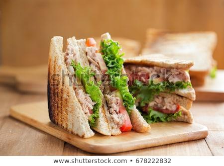 Ton balığı sandviç avokado kahvaltı salata Stok fotoğraf © Digifoodstock