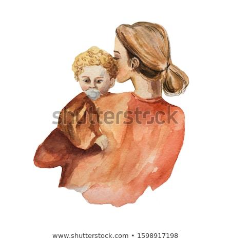 Fopspeen zwangere vrouw buik vrouw hand Stockfoto © pedrosala