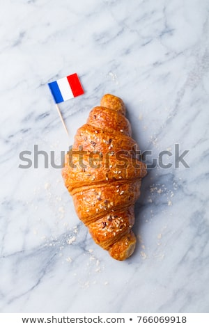 homemade french croissant close up stock photo © dariazu