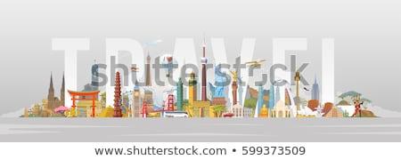 Vector set of tourist attractions Canada. Stock photo © studioworkstock