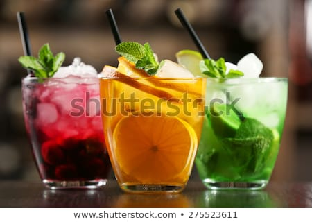Three glasses of cocktail drinks Stock photo © bluering