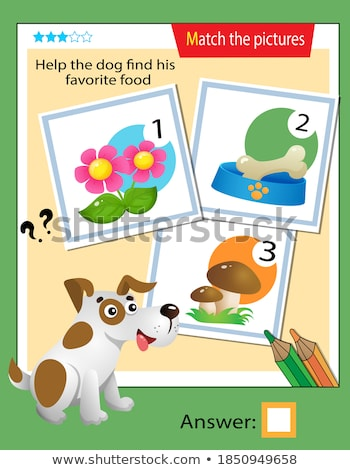 Játék sablon összeillő kutya illusztráció iskola Stock fotó © bluering