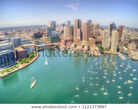 şehir Boston liman görmek yaz Massachusetts Stok fotoğraf © tab62