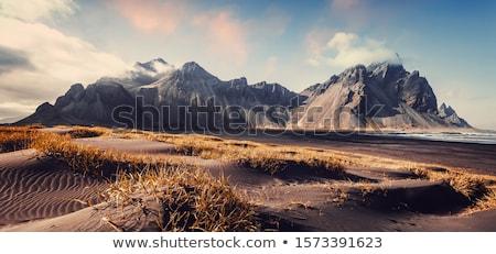 güzellik · dağ · uçurum · manzara · çim · güneş - stok fotoğraf © jawa123
