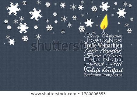 Рождества · испанский · слов · веселый · Label - Сток-фото © marimorena