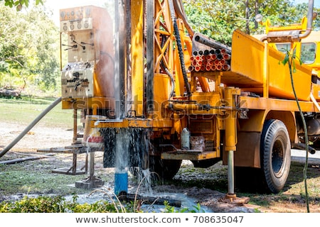 drilling rig boring hole stock photo © suljo