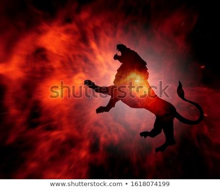 огненный звездой украшенный красный шаблон Сток-фото © blackmoon979