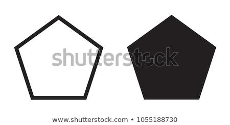 Pentagon alakú absztrakt ikon izolált fehér Stock fotó © cidepix