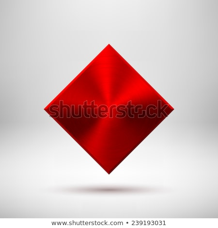 Red Abstract Rhombic Button Template Stock photo © molaruso
