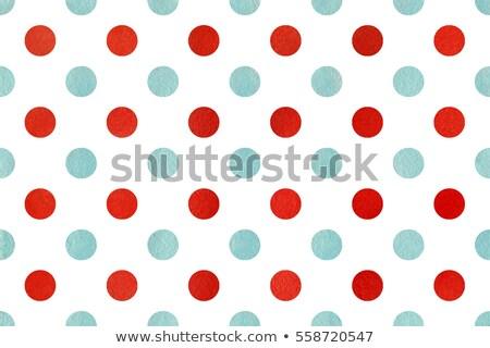 Elegáns kék piros pöttyös szín tapéta Stock fotó © SArts