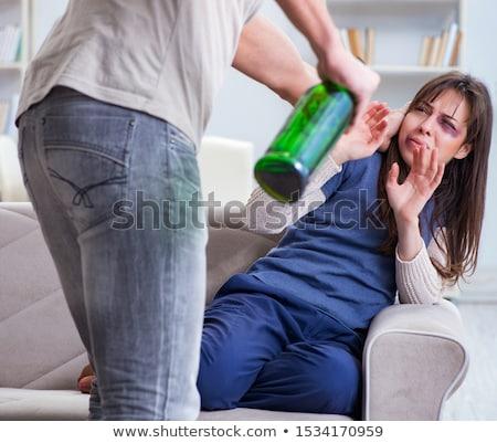 страшно · жена · плачу · насильственный · муж · социальной - Сток-фото © diego_cervo