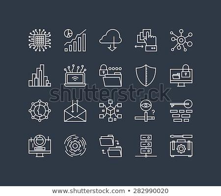 Bulut bağlantı hat ikon vektör yalıtılmış Stok fotoğraf © RAStudio