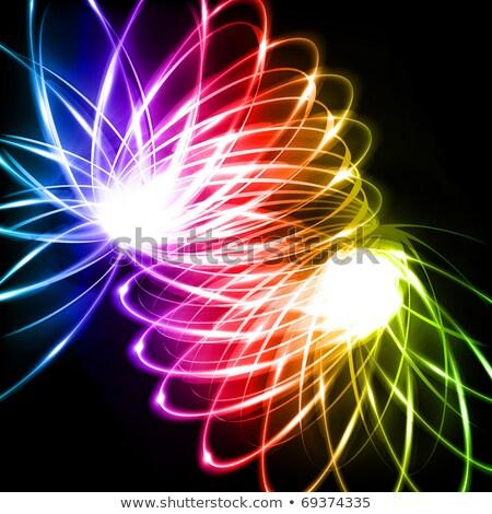Spiral gökkuşağı renkli müzik soyut Stok fotoğraf © SwillSkill