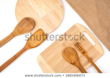 Propre bois spatule isolé blanche Photo stock © Digifoodstock