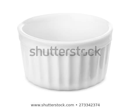 Mały biały puchar przekąska czyste naczyń Zdjęcia stock © Digifoodstock