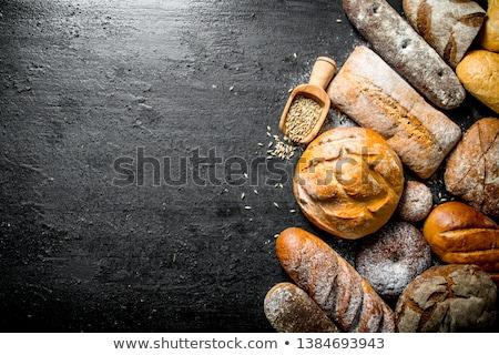 Fresche rustico pane tutto pagnotta metà Foto d'archivio © Digifoodstock