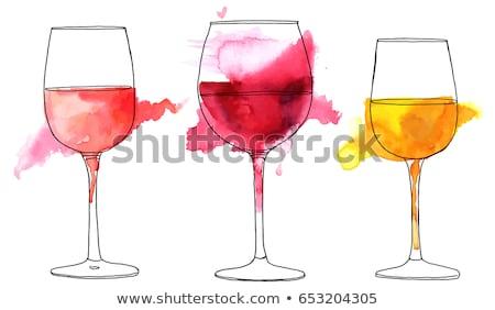 Wijnglas water uit lang Stockfoto © Fisher