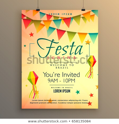 elegant festa junina poster holiday greeting stock photo © SArts