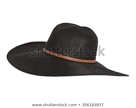 黒 · 女性 · 帽子 · 孤立した · 白 · 女性 - ストックフォト © gsermek