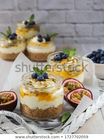 Cheesecake fresche frutti di bosco yogurt torta formaggio Foto d'archivio © yelenayemchuk