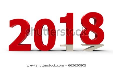 Verandering nieuwjaar 3d illustration business ontwerp Stockfoto © Oakozhan