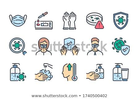 virus flat vector icon stock photo © ahasoft